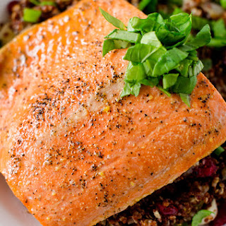 Maple Glazed Salmon.