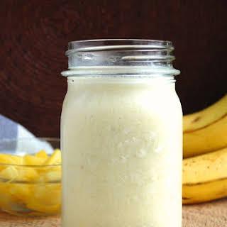 Creamy Banana and Pineapple Smoothie.
