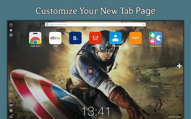 Captain America HD Wallpapers Tab Theme