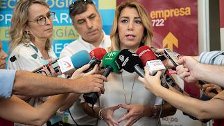 Susana Díaz, esta mañana.