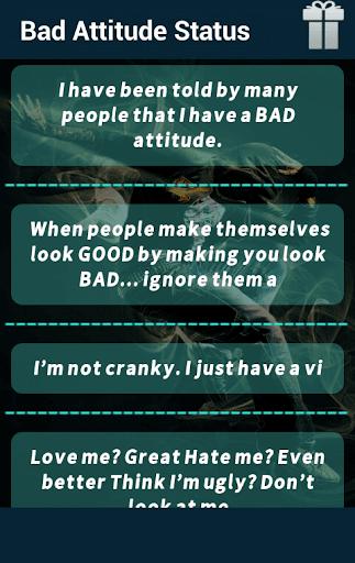 Bad Attitude Status