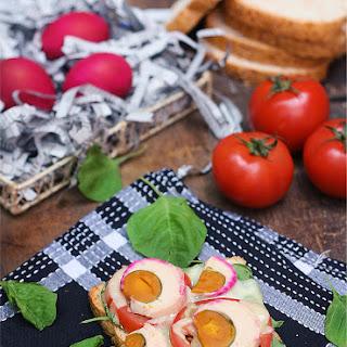Open-Faced Salted Duck Egg Sandwich