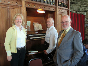 Photo: Josephine O'Connell, Charles Pearson and Peter Boyle Christ Church, Clifden.