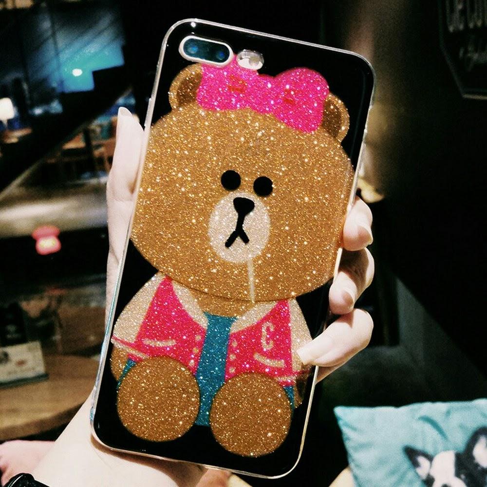 iphone case Glitter Embossed TPU