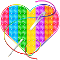 Happy Cross Stitch Color By Number-Needle Art Free icon