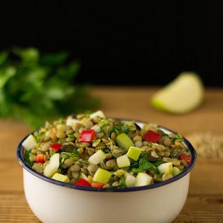 Vegan Green Lentil Salad
