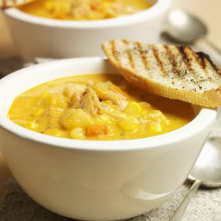 Rustic Corn and Chicken Soup.