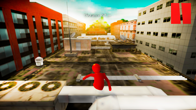 Fun Dash Run Human Fall : Parkour Sim Flat apk screenshot