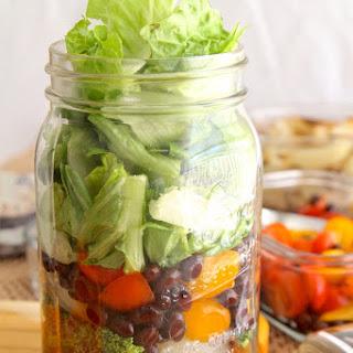 Veggie Lovers Salad-in-a-Jar.