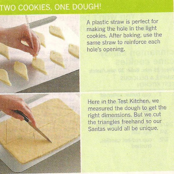 For lights: on a lightly floured surface roll one portion of dough to 1/8...