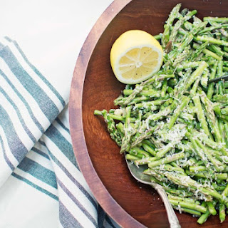 Asparagus with Caesar Dressing