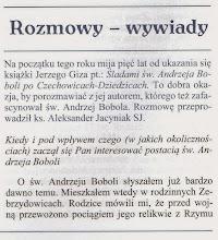 """Photo: Fragment wywiadu z n-ru 1/2, 2010 r. """"Sanktuarium..."""""""