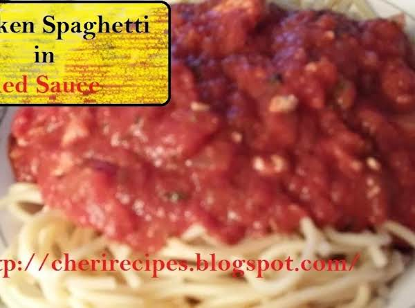 This Italian Spiced Spaghetti Is Made With Chicken With Red Sauce