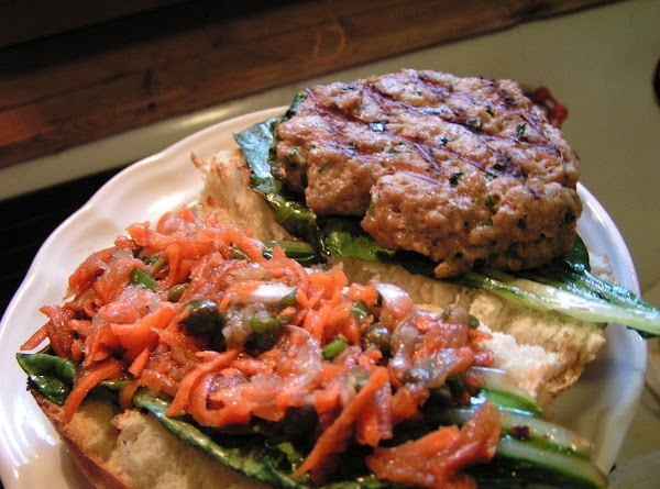 Place the steamed bok choy leaves on 4 slices of toasted Italian Bread, top...