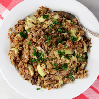 "Shiitake-Artichoke-Kasha-Orzo ""Rice-a-Roni"""