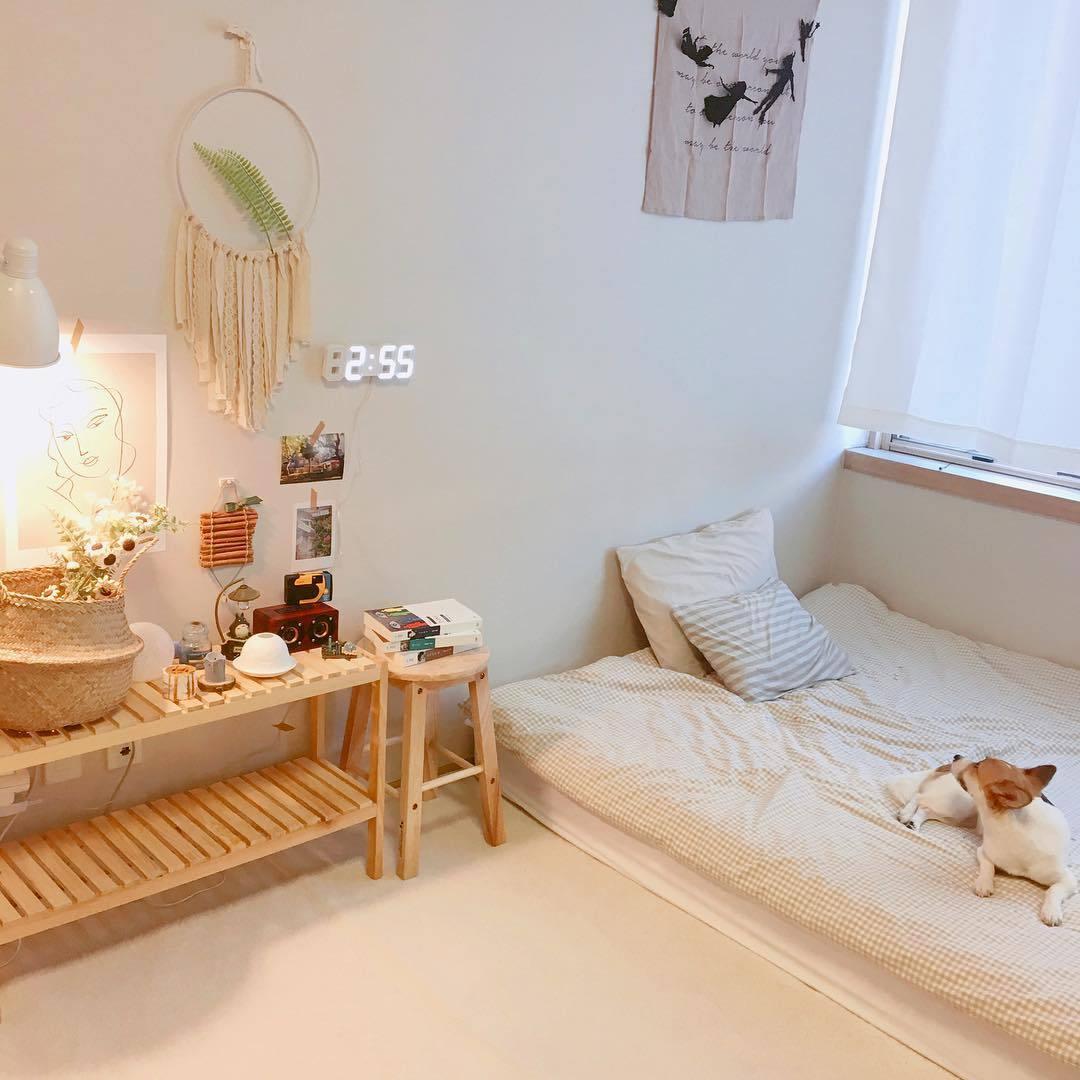 Phòng ngủ màu kem