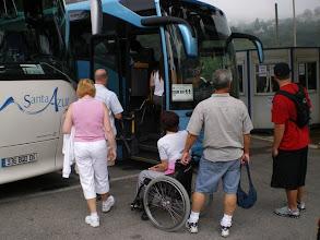 Photo: Boarding the Bus for Monaco