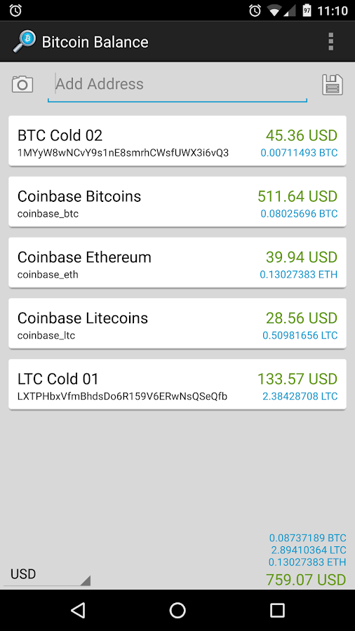 Bitcoin Balance - Android Apps on Google Play