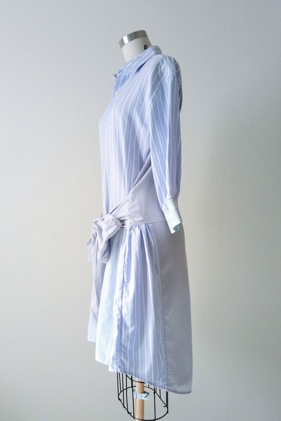 Result: DIY Shirt Dress with Bow Waist Tie - DIY Fashion Garment | fafafoom.com
