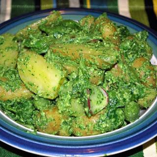 Peas & Pesto Potato Salad