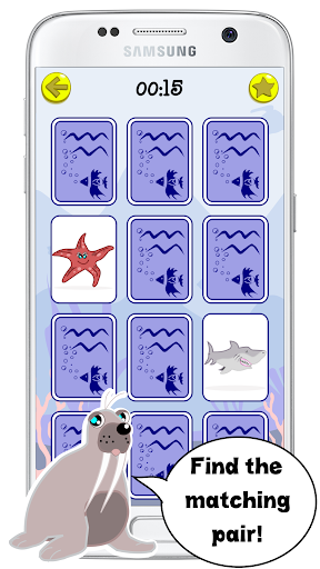 Animaux marins jeux de mémoire APK MOD (Astuce) screenshots 3