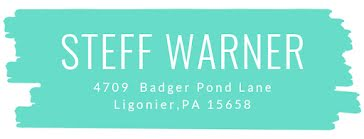 Steff Warner - Address Label template