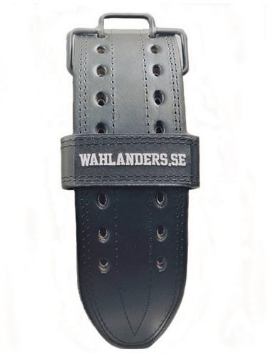 Wahlanders Bälte svart med svart söm - Medium