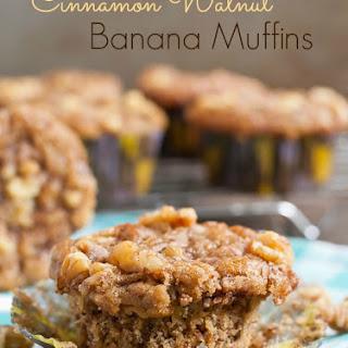 Cinnamon Walnut Banana Muffins