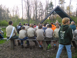 """Photo: """"Scout's own"""" prayer service"""