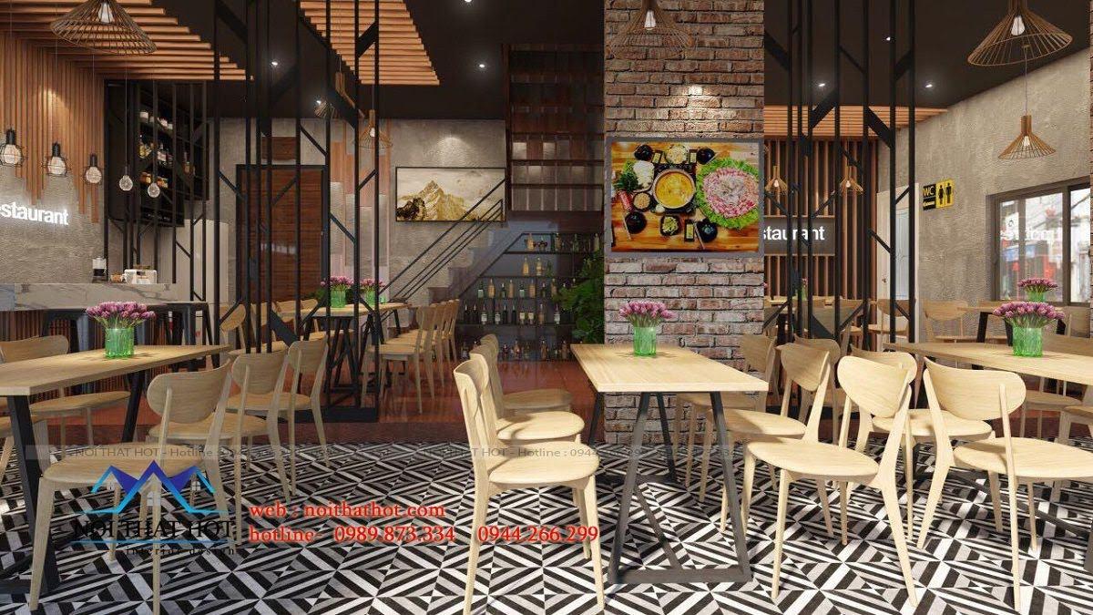 thiết kế nhà hàng lẩu nướng Đông Anh 1