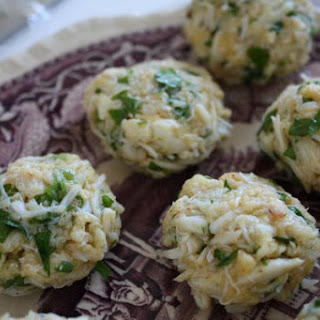 Mini Crab Cakes with Dijon and Scallions