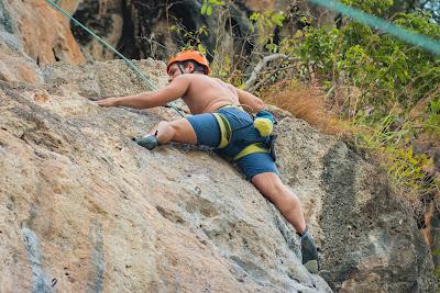 Top-rope climbing at Railay Beach