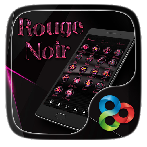Rouge Noir Go Launcher Theme 個人化 App LOGO-硬是要APP