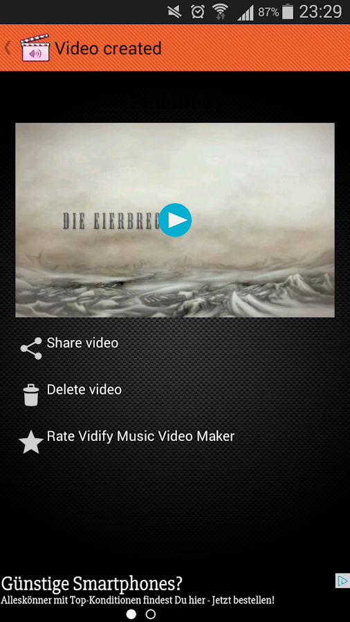 Vidify Music Video Maker- screenshot