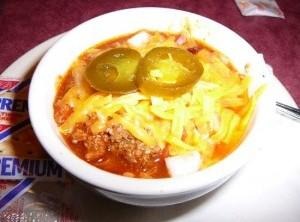 LONE STAR STEAKHOUSE CHILI: Recipe