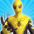 volando increíble araña hierro superhéroe luchando icon