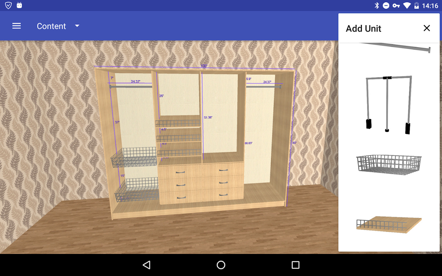 Closet planner 3d android apps on google play for 3d wardrobe planner