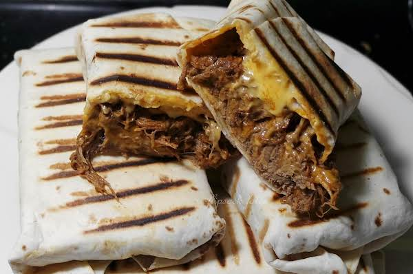 Grilled Shredded Brisket Chili Cheese Chimichangas Recipe