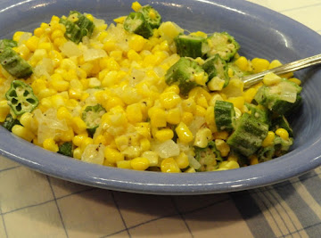 Falling In Love With Okra And Corn! Recipe