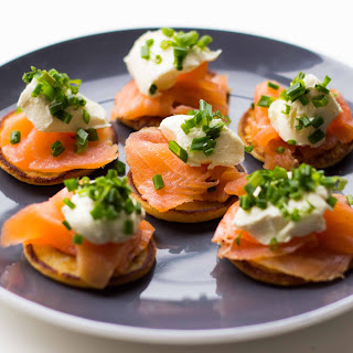 Blinis with Smoked Salmon and Cream Cheese Recipe