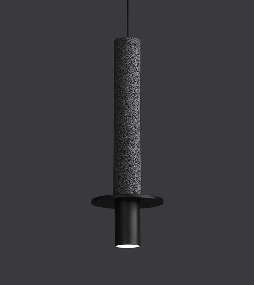 Roca volcánica es utilizada por David Pompa para su colección de lámparas META
