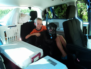 Photo: Dawson and Bailey (their dog)