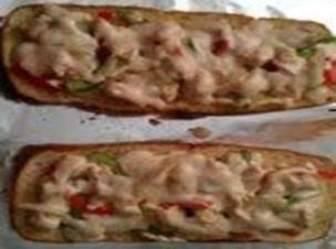 French Baguette Chicken In White Sauce Pizza Recipe