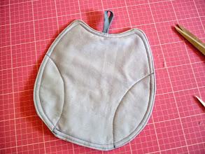 Photo: A little bit of quilting done Ein bisschen quilten