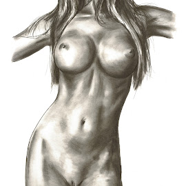 Nude Female Torso by Oliver Cook - Drawing All Drawing ( pencil, erotic, body, torso, graphite, sexy, nude, figure, female, naked, woman )