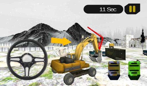 Crane Sim Heavy Excavator Snow