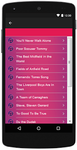 Liverpool F.C songs and lyrics, Hits. - náhled