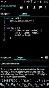 ArduinoDroid - Arduino IDE - náhled