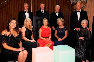 Photo: Pictured at the 2013 Mercy Service League Harvest Ball are: Bottom Row (L to R) Christine Ridgway, Harvest Ball Co-Chair; Christy Paumier; Gail Moore, Harvest Ball co-chair, Kimberly Cecconi and Daphne Thomson, Harvest Ball Co-Chair. Top Row (L to R): Thomas M. Paumier, D.D.S., vice chair of Mercy Medical Center Dental Services Section of Dentistry and honorary medical staff chair, Terry A. Moore, member of the Board of Directors of Mercy Medical Center and Chairman of Mercy Development Foundation; Thomas E. Cecconi, President and CEO of Mercy Medical Center and David Thomson.