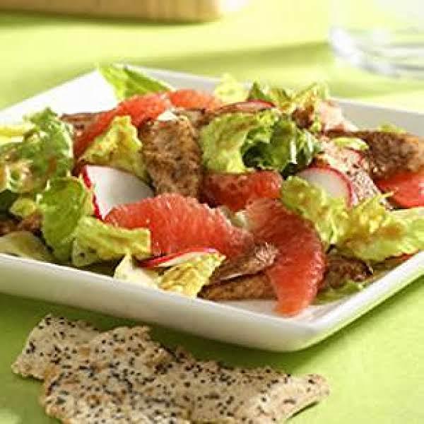 Grapefruit Chicken Satay Salad From Eatingwell: